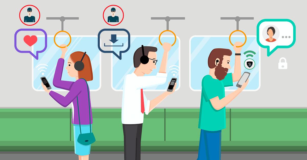 Киберзащита в сетях WiFi обеспечивается использованием профессиональной VPN, которая зашифрует все ваши личные данные и важную информацию. | Le VPN