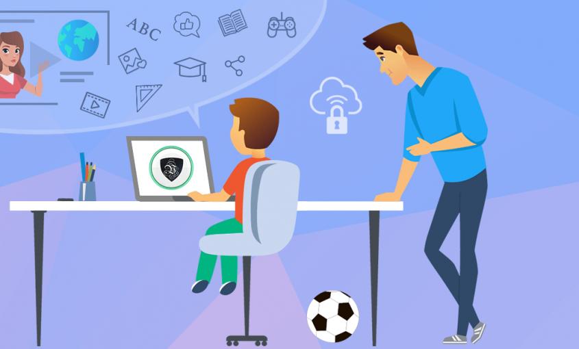 Онлайн обучение школьников во время пандемии - проблемы родителей | кибербезопасность детей | Le VPN | ВПН